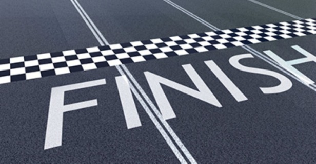 Finish Line. Digitally Generated Image; 19406922